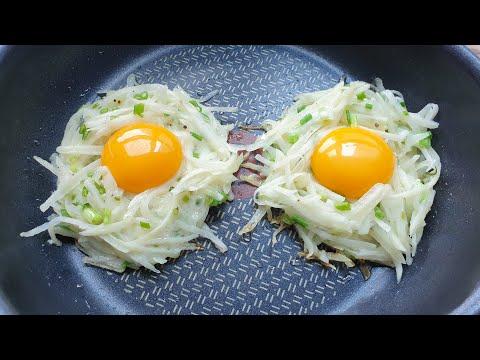 이렇게 맛있는 계란을 먹어 본 적이 없어요! 간단하고 맛있는 아침 식사! potato