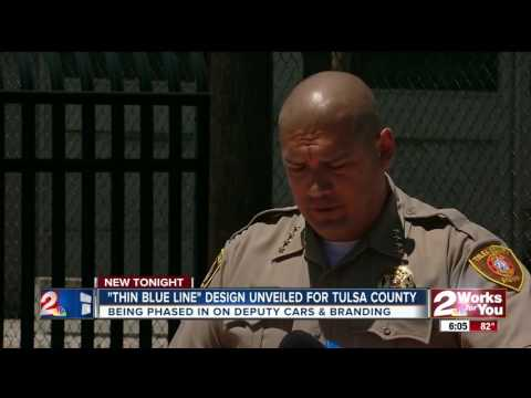 'Thin Blue Line' design for Tulsa County Sheriff