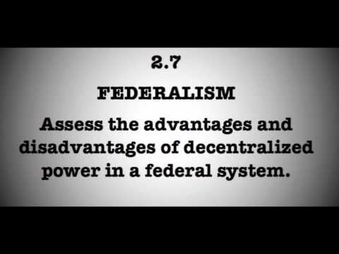2.7 Assess the advantages and disadvantages of decentralized power.