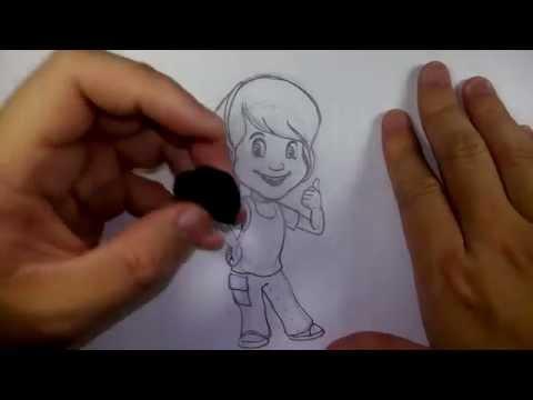 วาดการ์ตูน กันเถอะ สอนวาดรูป การ์ตูน ดาร์บี้ จาก การ์ตูน หมีพูห์ วินนีย์ เดอะ พูห์