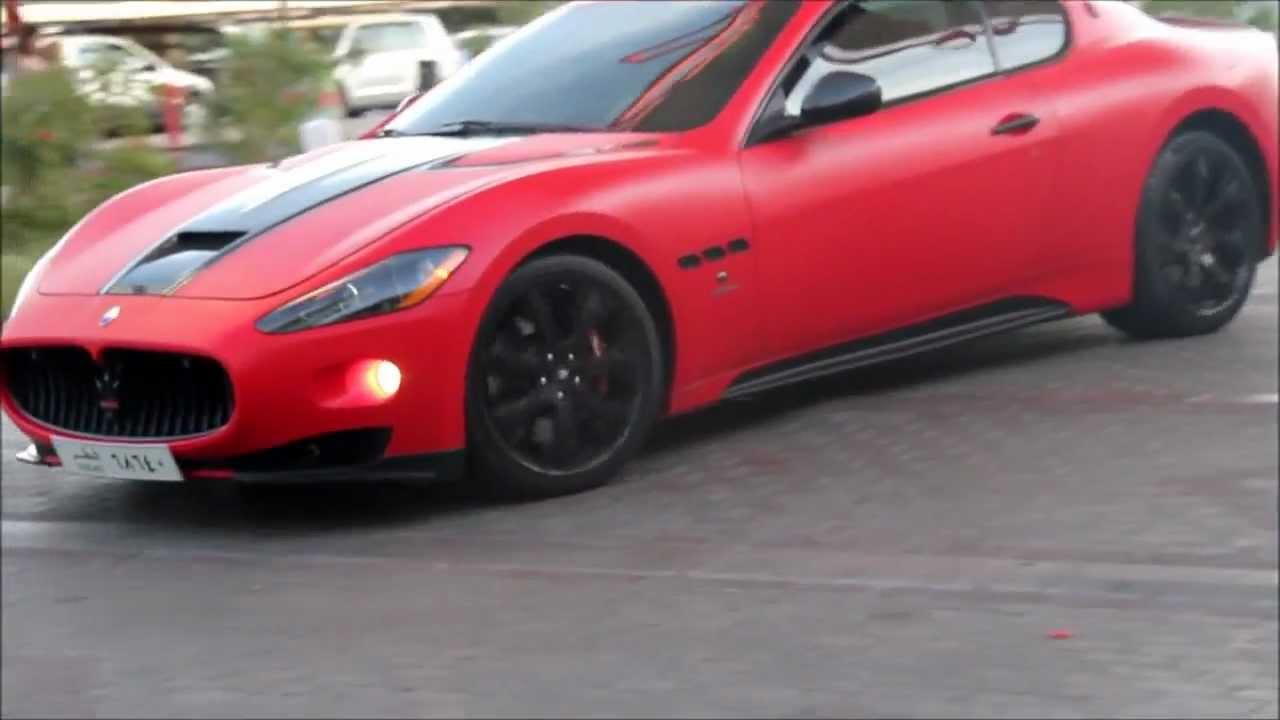 Maserati Gran Turismo Mc S Red Matte Qatar Youtube