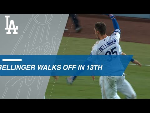 Cody Bellinger hits a walk-off single in the 13th
