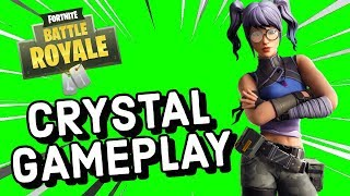 CRYSTAL Skin Gameplay In Fortnite!