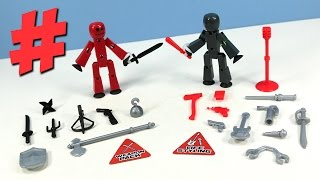 Stikbot Action Pack Roll Play Accessory Weapons and Life Styling thumbnail