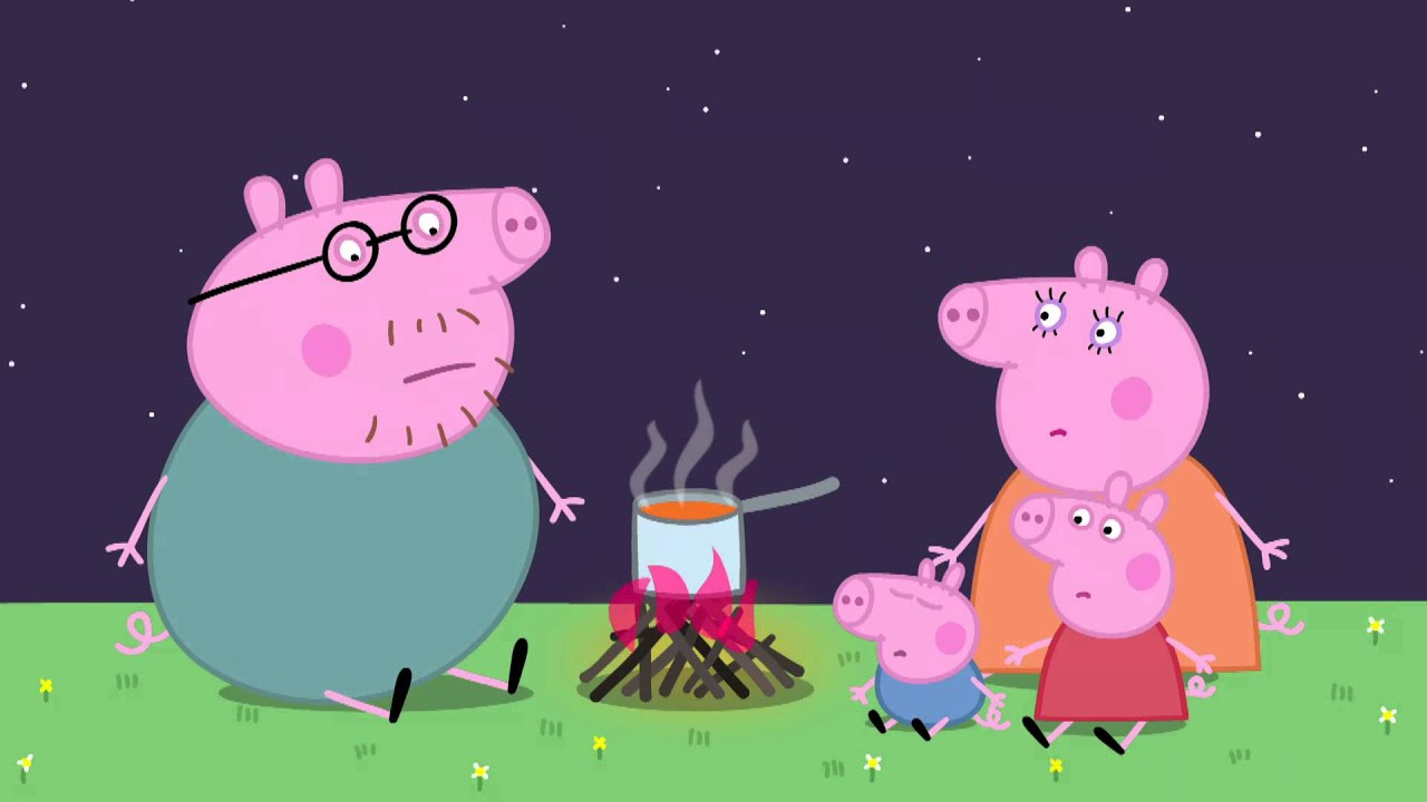 peppa pig camping youtube