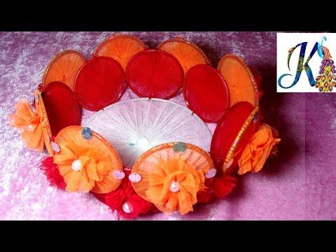 DIY Bangles craft / Recycle old metals bangles to make handmade basket / waste material craft