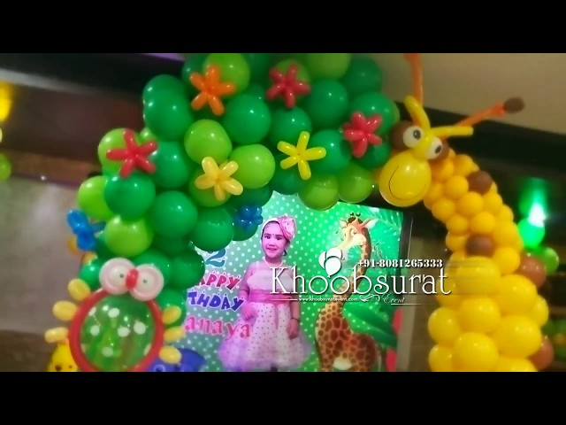 jungle  theme decoration at levana by khoobsurat event 8081265333