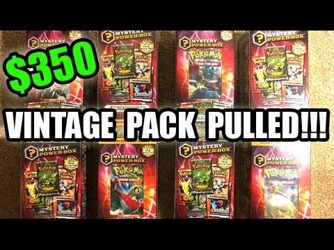VINTAGE PACK PULLED! - Opening $350 of Pokemon MYSTERY POWER BOXES! - FIRST EVER ON YOUTUBE!