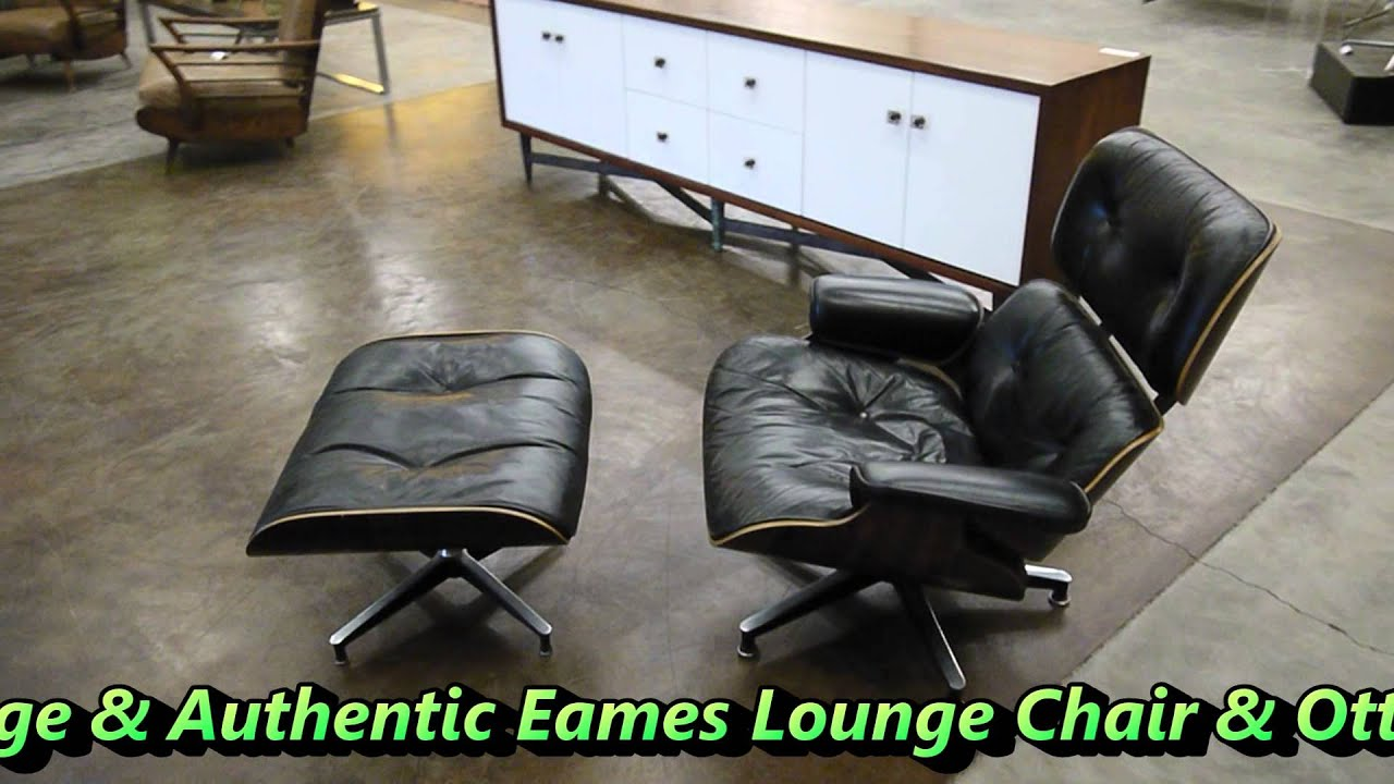 the595project eames lounge chair ottoman youtube