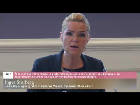 Inger Støjberg i åbent samråd om barnebrude-sagen (hele samrådet)