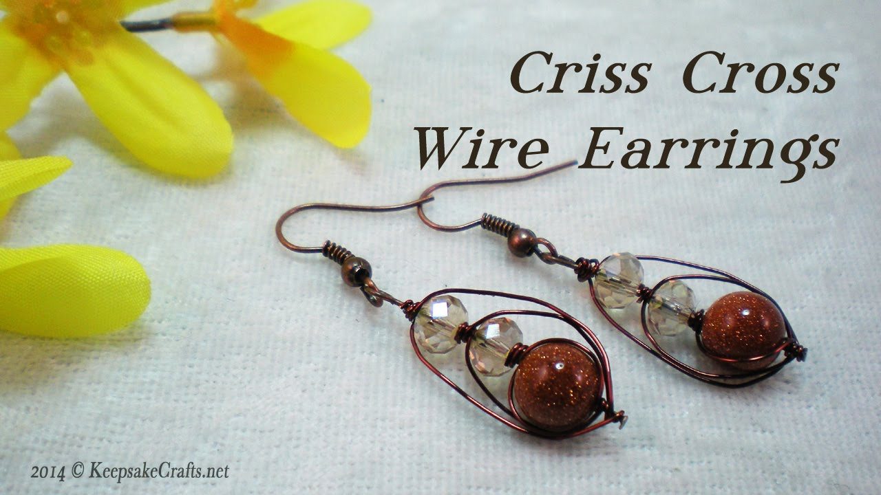 Criss Cross Wire Earrings Tutorial - YouTube
