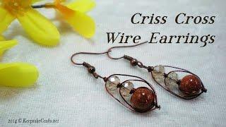Criss Cross Wire Earrings Tutorial