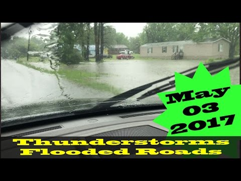 #arwx - Thunderstorms, Flooding: SW Arkansas 05/03/2017