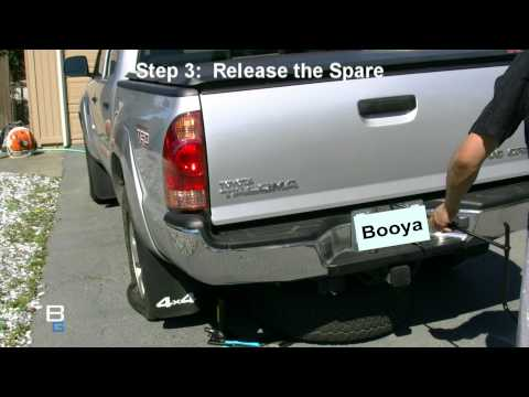 High Def Tire Change On Toyota Tacoma Truck With JVC HM400