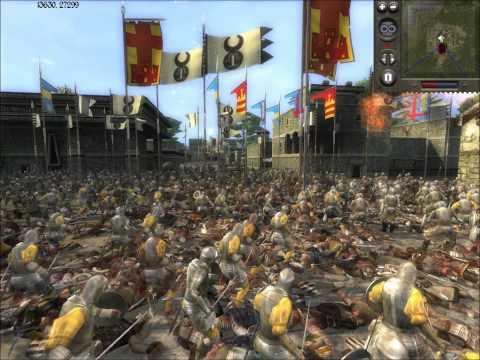 Medieval II Total War Online Battle #61: Hernan Cortes vs Genghis Khan (siege)