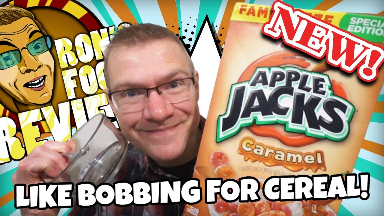 NEW!! KELLOGG'S CARAMEL APPLEJACKS!! TASTE AND REVIEW!!