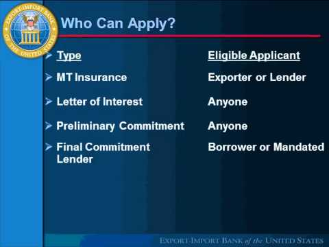 """""""Ex-Im Bank Webinar Series (3 of 3):  Competitive Financing for Your Foreign Buyers"""" Webinar"""