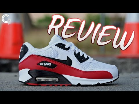 Air Max 90 Black And White And Red