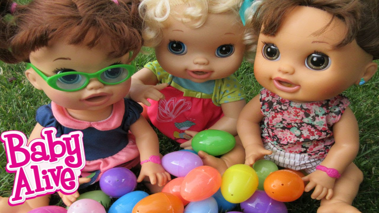 BABY ALIVE Easter Egg Hunt With Baby Alives  YouTube