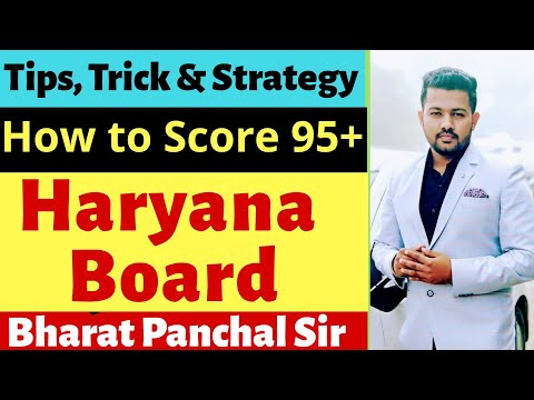 How to score 95+ in HBSE   Haryana Board   Chemistry   Class-12th   Bharat Panchal Sir
