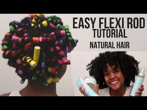 Easy Flexi Rod Tutorial on Type 4 Natural Hair (Super Defined & Perfect Curls!)