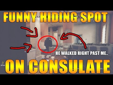 New Hiding Spot on Consulate - Rainbow Six Siege