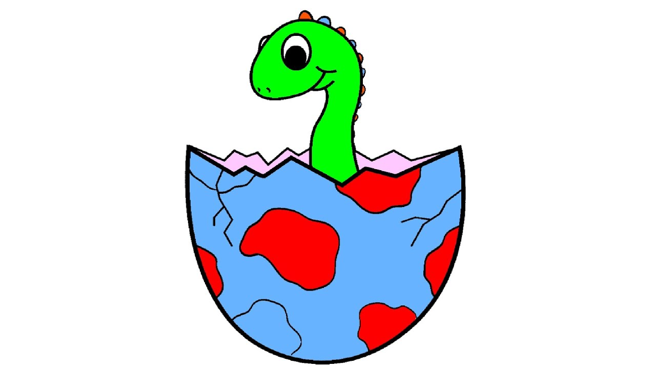 Baby Dinosaur Coloring Page YouTube