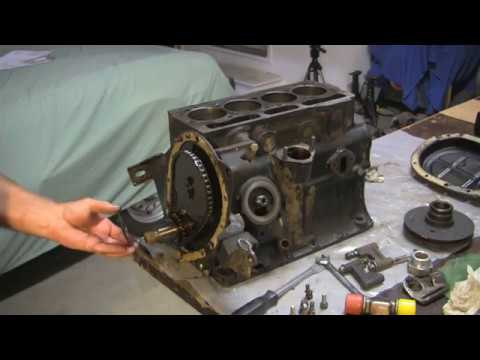 Removing Timing Chain Camshaft On A 79 Triumph Spitfire Youtube