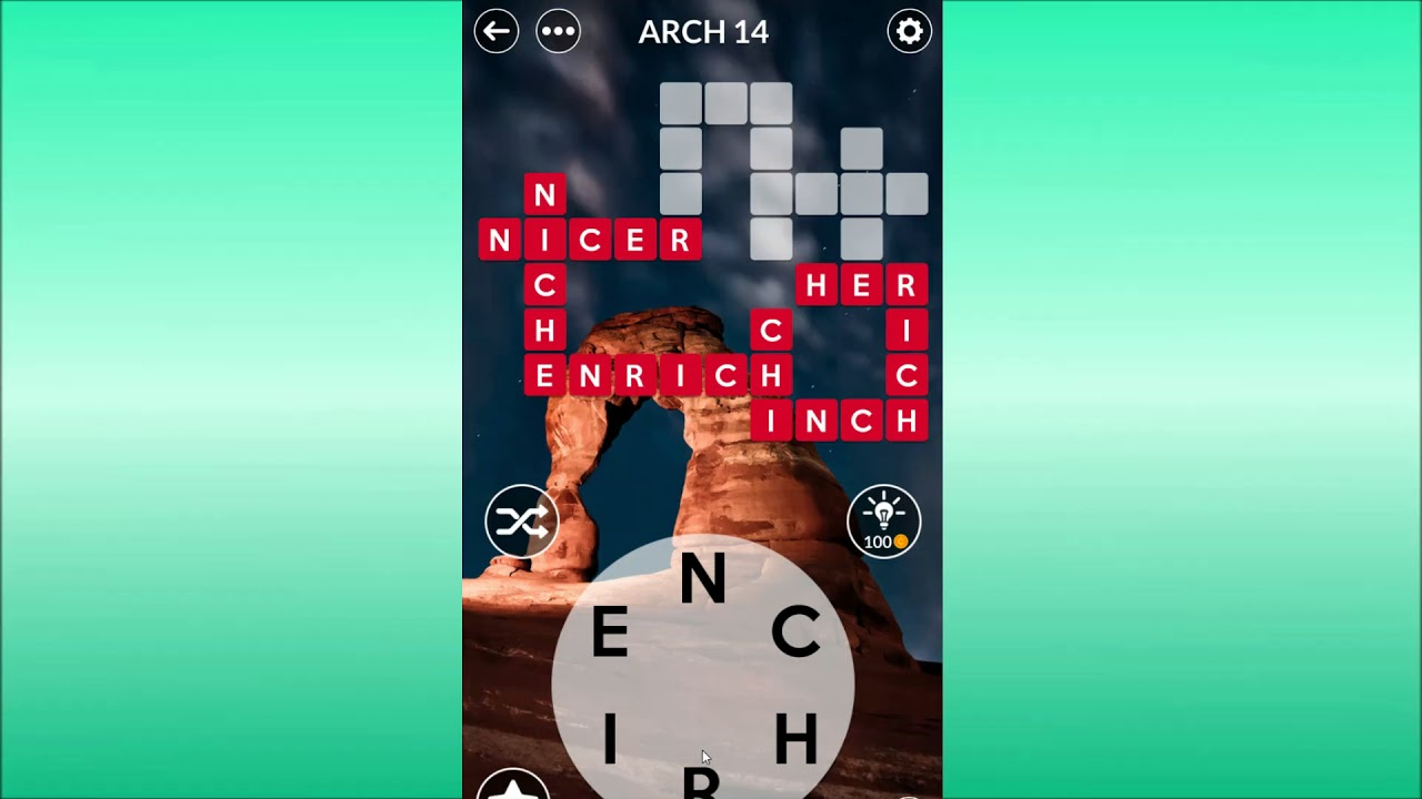 Wordscapes Arch Level 14 Answers Youtube