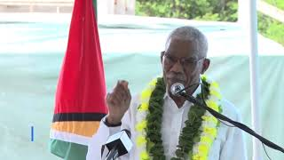 President David Granger at the Commissioning of Radio Bartica. thumbnail
