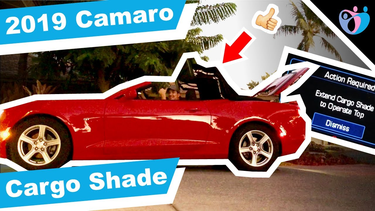 How to extend cargo shade in camaro 2019