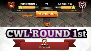 CWL Round 1. OP Hits. Th12 War Attack 3 STAR STRATEGY coc