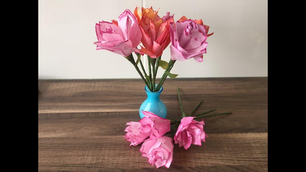 diy rose basteln f r muttertag valentinstag blumen als geschenkidee oder zum geburtstag youtube. Black Bedroom Furniture Sets. Home Design Ideas