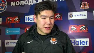 Бату Гендунов после матча «Амурские Тигры» - СКА-1946 (30.01.2018)