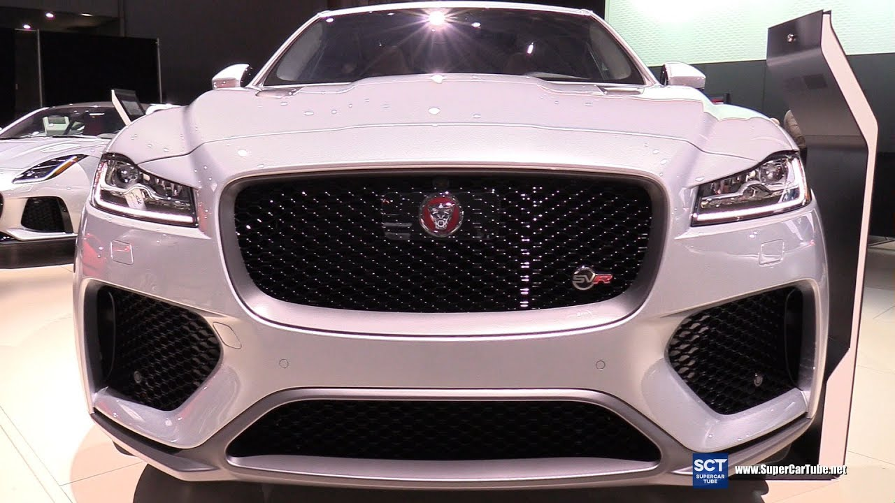 Jaguar FPace SVR Exterior And Interior Walkaround Debut At - Unique tin car show 2018