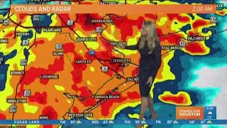 Houston Forecast: Flash Flood Watch in effect, street flooding possible