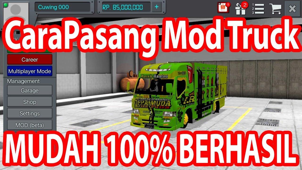 Cara Pasang Mod Bussid V3 0 Bonus Truk Canter Oppa Muda Bus Simulator Indonesia Youtube