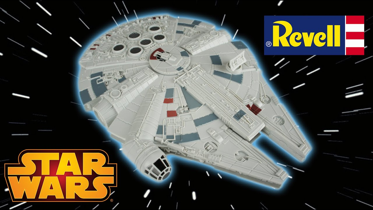 revell star wars millennium falcon snap tite model kit review with sounds and lights youtube. Black Bedroom Furniture Sets. Home Design Ideas