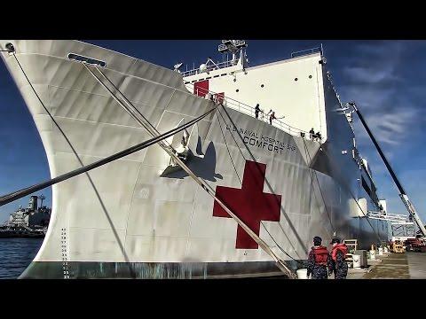 Hospital Ship USNS Comfort Departs For Duty