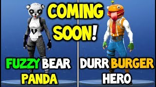 *NEW* Fortnite Skins: DURR BURGER SKIN 100% CONFIRMED + FUZZY BEAR PANDA & MORE! (Leaked Skins New)