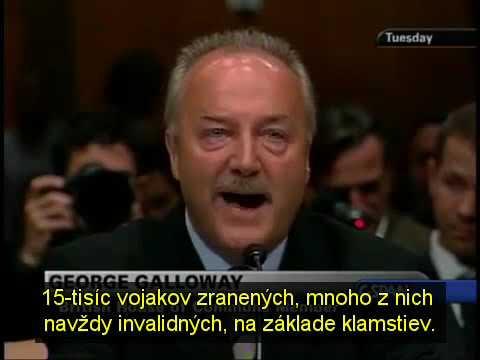 George Galloway o sankciách a invázii do Iraku (SK sub)