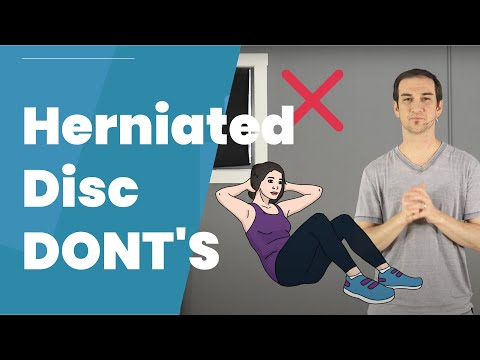 Exercises To Avoid For Herniated Discs And Sciatica