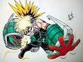 Speed drawing Katsuki Bakugou/kachan (My Hero acadamia)...50 subs special