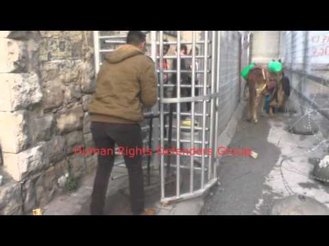 The daily life of Palestinians through the checkpoint