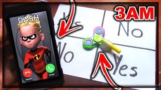 DO NOT PLAY CHARLIE CHARLIE FIDGET SPINNER WHEN CALLING DASH (FROM INCREDIBLES 2) AT 3AM!!