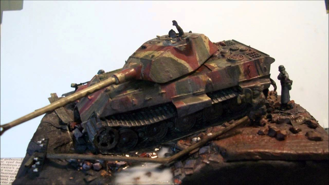 How To Restore A Old Model Tiger Ii 1 72 Part 3 Weathering Youtube