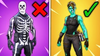 Top 10 Rare Fortnite Skins THAT ARE OVERRATED!