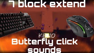 7 Extend | Bridge Keyboard And Mouse Sounds | ASMR Butterfly Click Sounds