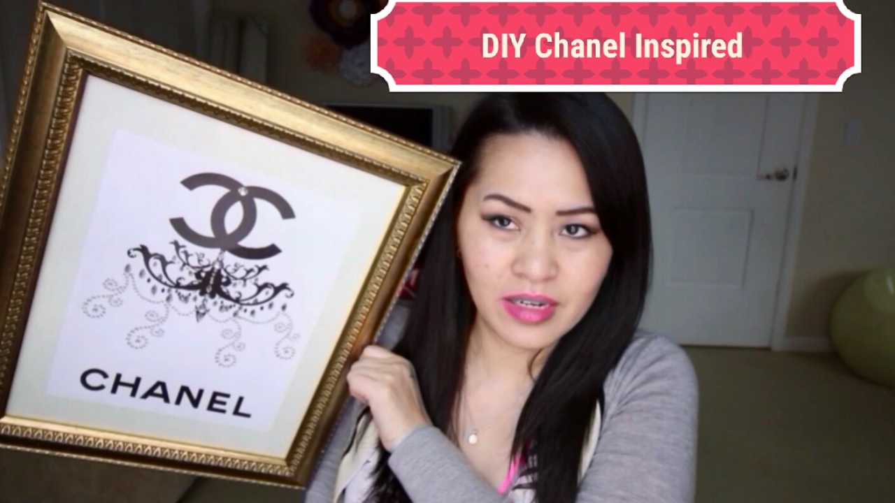 Diy Chanel Inspired Wall Decor Youtube
