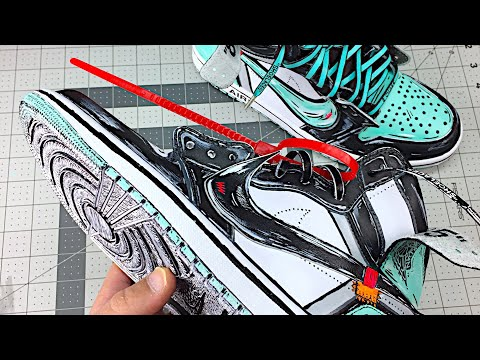 HOW TO: Make Cartoon Custom Kicks Tutorial DIY